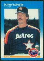 Original Autograph of Danny Darwin of the Astros on a 1987 Fleer Card