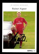Rainer Aigner Autogrammkarte Bayern München II 1990-91 Original Signiert