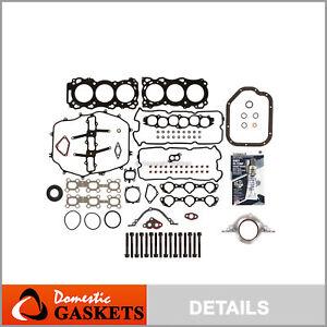 Fits 03-04 Infiniti FX35 G35 Nissan 350Z 3.5L DOHC Full Gasket Set Bolts VQ35DE