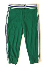Vtg New Deadstock 70's Bike Baseball Pants Xl 38-40 Green Navy White Usa Made