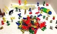 Huge Lot of 100+ Plastic Cowboys & Indians Farm Animals Horses
