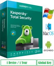 Antivirus KASPERSKY Total Security 1 Dev - 1 Year - instant @email - 2021