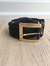 Armani Exchange Gold And Black Belt Size M