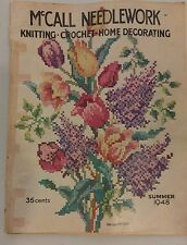 Vintage 1940s McCall Needlework Magazine Summer 1948 Knitting Sewing Crochet