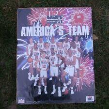 1992 Dream Team USA Basketball Players America Dynasty /& Team Poster Book Sealed