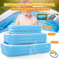 Large Family Inflatable Swimming Pool Garden Outdoor Summer Kids Paddling