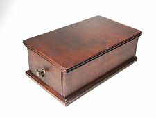 Vintage Wood Drawer Dresser Trinket Box Sewing Machine File Card Cabinet 12 1/4""