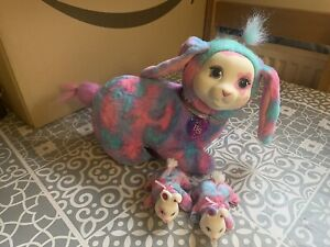 Bunny Puppy Surprise Bunny With 2 X Baby Bunny Rabbit VGC