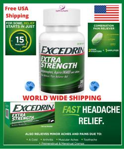 Excedrin 300 Extra Strength Pain Headache Relief Reliever Aspirin Caffeine