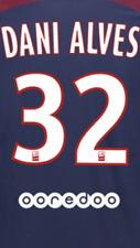 2017-18 PSG Ligue 1 Dani Alves #32 Hogar Camiseta Oficial monblason nombre número Set