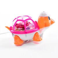 Lovely Pull Little Turtle Emitting Light Kid Toy Wind Up Toy Kids Children Gift