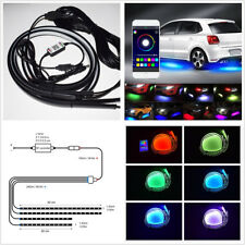 4 X 10V-15V RGB LED Car SUV App Running Underglow Light Chassis Atmosphere Lamps