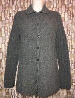 J CREW Wool Blend Women's Medium Gray Button down Cardigan Sweater