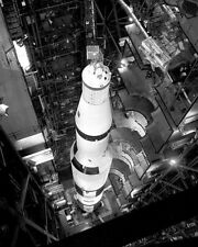 Saturn 5 rocket being prepared for uncrewed Apollo 4 mission in VAB Photo Print