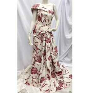 Carolina Herrera Embroidered Asymmetrical Drape