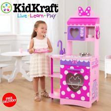 New Great Minnie Mouse Kitchen Play With Interactive Functions KidKraft For Kids