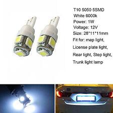 2x T10 168 194 White 5 SMD LED Wedge Light Side Corner Tail Park Globe Bulb 12V