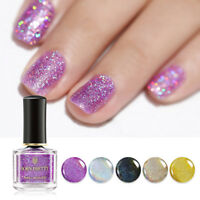 BORN PRETTY 6ml Nagellack Holographisch Nail Polish Nail Art Varnish Regenbogen