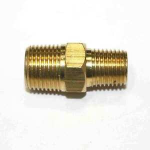 """(6) 1/4"""" x 3/8"""" NPT Male to Male Brass Hex Nipple Reducer quick fittings (FA416)"""