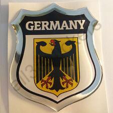 Adesivi Germania Scudetto Germania 3D Emblema Stemma Resinato Vinile Resinati
