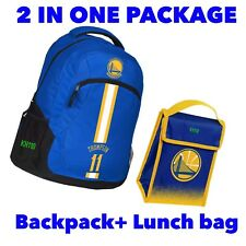 NBA Golden State Warriors Thompson Backpack+Lunch bag 2 in1 Package