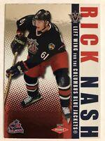 2002-03 Vanguard Rookie Card Rick Nash /1650 #109 RC