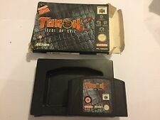 NINTENDO 64 N64 TUROK 2 / II SEEDS OF EVIL GAME CARTRIDGE +BOX PAL