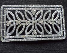Magnificent Looking Vintage & Original Large Silver Tone & Paste Brooch