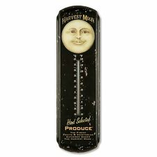 New Primitive Vintage Style Man In Moon HARVEST MOON THERMOMETER Indoor Outdoor
