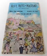 1956 Booklet Nassau Bahamas Best Buys Travel Guide