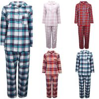 Ex Marks and Spencer Women's Pure Brushed Cotton Checked Pyjamas PJ's RRP £25