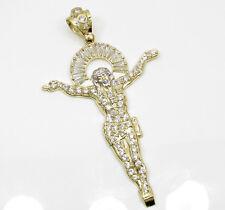 10 Grams Large Mens 10k Yellow Real Gold Jesus Hanging Body Charm Pendant