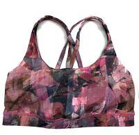 Lululemon Bra Energy Bra Sports Bra printed Pink  - Size US8 / UK12