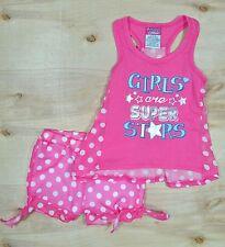 Baby Girl 6/9 Month Pink/White Polka Dot Shirt & Shorts Outfit