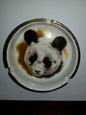 Panda Ashtray with a gold edge
