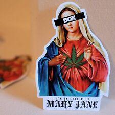 "Mother Mary Jane Smoking Weed Cannabis marijuana 8x6cm 3"" Decal sticker #2119"