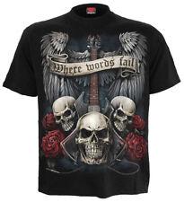 SPIRAL DIRECT UNSPOKEN T-Shirt/Riders/Skull/Biker/Tattoo/Darkwear/Metal/Rock/Top