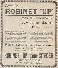 Z9098 Robinet UP pour CITROEN -  Pubblicità d'epoca - 1928 Old advertising