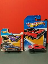 2 Hot Wheels model cars, 68 Dodge Dart, blue, red, 426 Hemi
