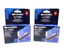 New (2 Pack) Genuine Sharp AJ-T20C Cyan Ink Cartridge - Retail Pack