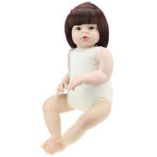 HOT 28'' Handmade Reborn Toddler Dolls Baby Lifelike Naked Girl Doll Gifts Vinyl