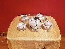 Kahla German 27 Piece 6 Person Dessert Serving Set, White Porcelain with Flower