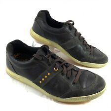 Ecco Street Casual Hybrid Golf Sneakers Brown leather Sz 45 11-11.5