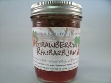 Strawberry Rhubarb Jam Handcrafted by Beckeys holiday gift gourmet jam and jelly