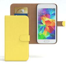 Tasche für Samsung Galaxy S5 Mini Case Wallet Schutz Hülle Cover Gelb