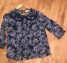 ladies Sheer Pretty Top From River Island Size 12 Floral