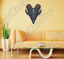 Goat Demon Devil Eye Satan Ram Horn Hell Wall Sticker Room Interior Decor 18X25""