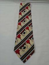 Loony Tunes Vintage 1995 100% Silk Warner Bros Taz Tie