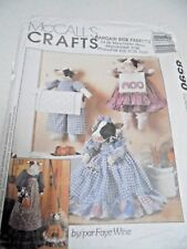 8590 McCalls Cow Kitchen Accessories Sewing Pattern Paper Towel Holder, Covers