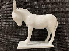 Wunderschöne und seltene Augarten Figur - störrischer Esel